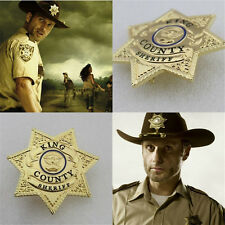 TV Series The Walking Dead Uniform Star Badge King County Sheriff Grimes Badge