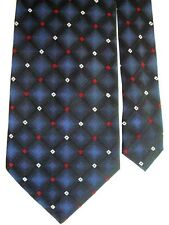 "Croft & Barrow Men's Silk Plaids & Checks Neck Tie Navy Blue Charcoal 4"" x 58"""