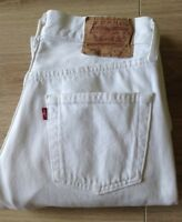 LEVI'S 501 JEANS SIZE 29 X 34 BRIGHT WHITE MADE IN USA SEE DESCRIPTION