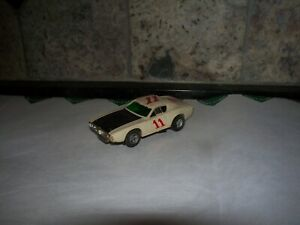 AFX DODGE CHARGER STOCK CAR IN WHITE AND BLACK #11