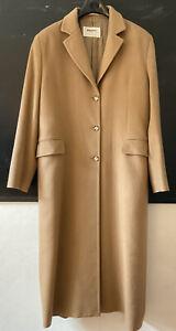 Johnstons 100% Cashmere Camel Coat UK 16