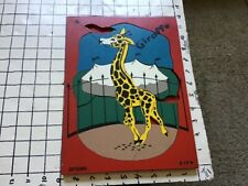 Vintage frame tray puzzle -- SIFO - GIRAFFE but missing 3; designed by A R NOBLE