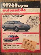 Revue Technique Automobile FORD Scorpio 1.8 - 2.0 - 2.0i et Twin-Cam