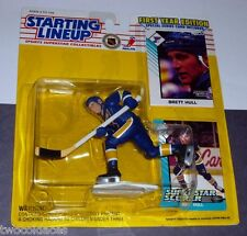 1993 BRETT HULL #16 St. Louis Blues Rookie - low s/h - HOF Starting Lineup