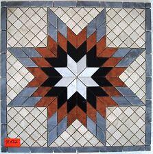 Naturstein Rosone 66x66cm Antik Marmor Fliese Stern  Mosaik R132 Expressversand