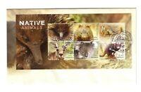 2015 FDC Australia. Native Animals. M.S. Various FDI postmarks