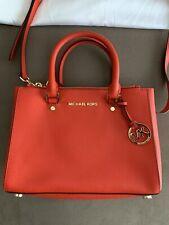 Michael Kors NWOT Selma Orange Leather Handbag/Over The Shoulder Purse