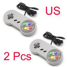 2-Pack SNES Retro Gamepad USB Controller For PC/MAC Super Nintendo Games