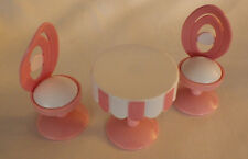 """3 Barbie ? Accessories Ice Cream Table 2 Chairs Girls Doll Pretend Play 2"""" Toys"""