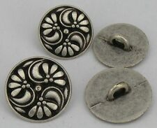 10 Metallknöpfe Trachten Knöpfe  15mm altsilber 07.21b