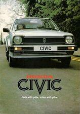 Honda Civic 1981 UK Market Sales Brochure 1335 3-dr & 5-dr