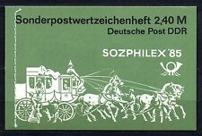 Germany / DDR - 1985 Booklet Sozphilex / Coach Mi. 8 MNH