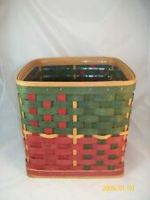 Longaberger 2006 Large Christmas Holiday Hearth Basket w Protector