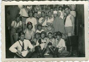 Photo allemande guerre WW2 -- Humour et camaraderie entre hommes NSKK