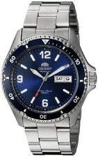 Orient FAA02009D9 Mako II 41.5 mm Automatic Stainless Steel Diving Men's Watch - Silver/Blue