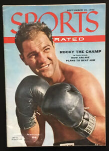 """1955 9/19 Sports Illustrated Magazine / Boxer ROCKY MARCIANO """"THE CHAMP"""""""