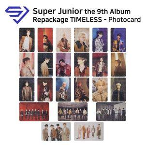 Super Junior 9th Album Repackage TIMELESS Official Photocard KPOP K-POP