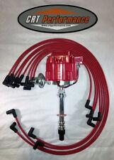 1975-1980 C3 CORVETTE GM HEI DISTRIBUTOR RED + 8MM PLUG WIRES - MADE IN USA
