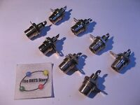 RCA Socket Female Jack Brown Insert w Hardware - NOS Qty 8