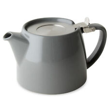GREY FOR LIFE 18oz (530ml/2 CUP) TEAPOT & STRAINER & PACK OF SUKI LOOSE LEAF TEA