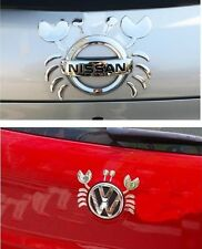 3D Chrome Cute Crab Car Emblem Decal Sticker Automobile Car Truck Logo Sticker
