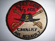 US Army 4th Squadron 3rd Armored Cavalry Regiment STETSON AIR ASSAULT Patch