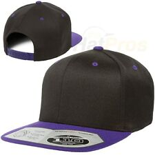Flexfit® One Ten Flat Bill Snapback - Adjustable Hat + Flex Fit Tech 110F 110FT