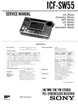 SONY ICF-SW55 SERVICE MANUAL ON A CD