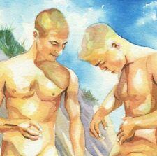 "PRINT Original Art Work Acrylic Painting Gay Interest Male Nude /""Sailor/"""