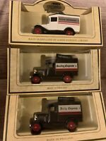 Lot Of 3 X Lledo Daily Sunday Express Die-Cast Vans Newspaper Advertising