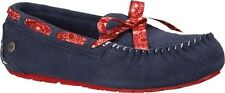 UGG Girls Youth Kids Size 4 Blue Moccasin Shoes Slip On Slippers Ryder Bandana