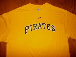 NEW MAJESTIC MLB PITTSBURGH PIRATES CLEMENTE SHORT SLEEVE T-SHIRT MENS 2XL