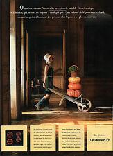 Publicité 1990  La cuisson par DE DIETRICH plaque de cuisson haute technologie