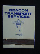 BEACON TRANSPORT SERVICES COURIER TAXI TRUCKS STORAGE MATCHBOOK