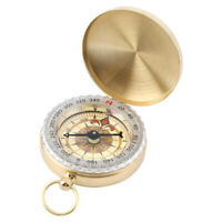 Messing Camping Hiking Navigation classic pocket watch Kompass_Keychain J0W5