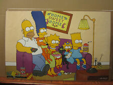 Vintage 1997 The Simpsons poster Home Sweet Home family tv show  4001