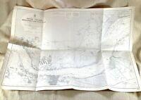 1943 WW2 Mappa Di Il River Thames Broadness Muckling Appartamenti Tilbury Dock