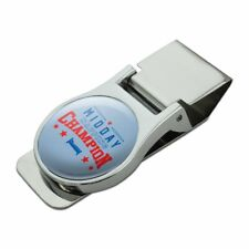 Midday Napping Champion Funny Humor Satin Chrome Plated Metal Money Clip