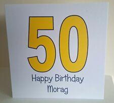 Personalised 50th Birthday Card handmade female/male -  any wording