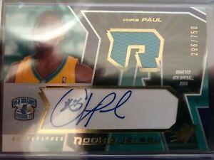 Chris Paul 2005-2006 Upper Deck SPX / SP Authentic Rookie Patch / Auto Lot