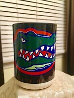 Awesome UNIVERSITY of FLORIDA GATORS Coffee Mug Cup Orange & Blue Vintage!