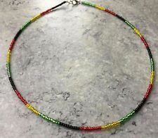 Dainty Glass Seed Bead Necklace Various Styles & Lengths - RASTA LGBT TRANS