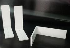 """2 Heavy Duty white Steel 6""""x12""""x2.5"""" Counter top Support Brackets! Lot L Shelf"""