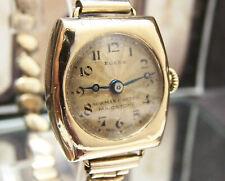 1923 ANTIQUE VINTAGE GENUINE ROLEX SOLID 18K GOLD WATCH PRIMA MOVEMENT WORKS