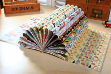 16 sheets - 8 London & World Scene Pattern Tear Wrapping Paper Book / Origami