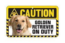 Dog Sign Caution Beware - Golden Retriever