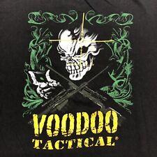 Voodoo Tactical T Shirt Tactical Skull Size Large Men's Black Yellow Logo