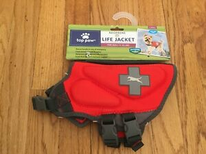 NEW Top Paw Adjustable Dog PFD Life Jacket XS 5-15 Lbs - 100% to Pet Rescue