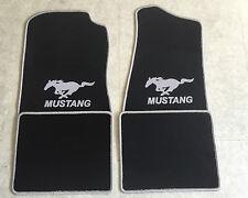Autoteppich Fußmatten für Ford Mustang 1994'-2004' schwarz silber 4tlg Neuware