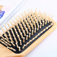 Wooden Comb Vent Paddle Brush Keratin Health Hair Care Massage Anti Static~QA